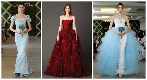 Barevné svatební šaty jsou hitem nových kolekcí slavných návrhářů c605ec60dd