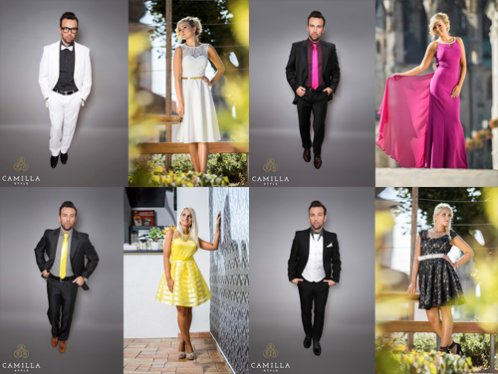 Jak sladit oblečení páru na svatbu a další společenské akce   ad8e38b856