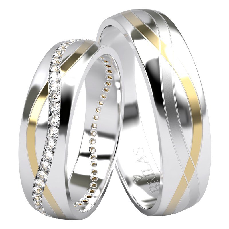 Alia Colour Gw Briliant Snubni Prsteny Z Kombinovaneho Zlata A