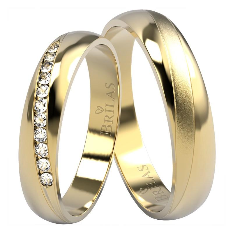 Salme Gold Briliant Snubni Prsteny Ze Zluteho Zlata S Diamanty