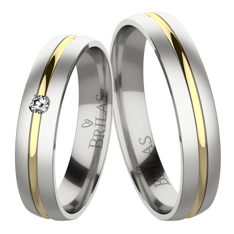 Marion Colour Gw Jemne Snubni Prsteny Z Kombinovaneho Zlata Brilas