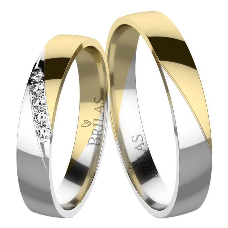 Eleanor Colour Gw Snubni Prsteny Z Kombinovaneho Zlata Brilas