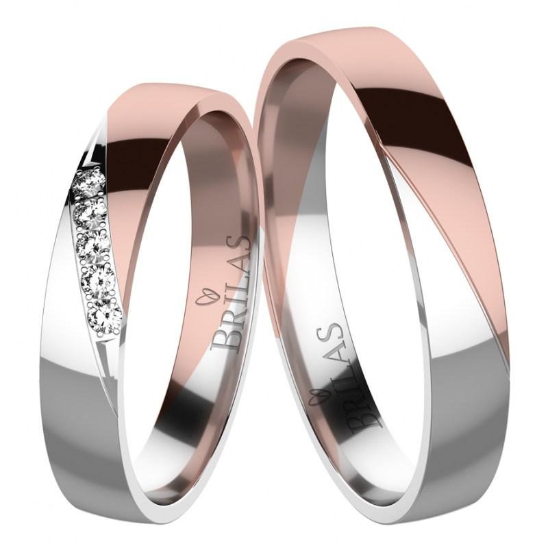 Eleanor Colour Rw Snubni Prsteny Z Kombinovaneho Zlata Brilas