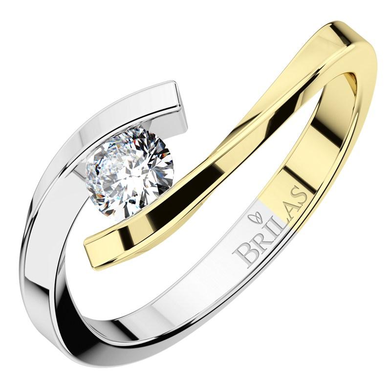 Prstýnek kombinovaný z bílého a žlutého zlata Nuria