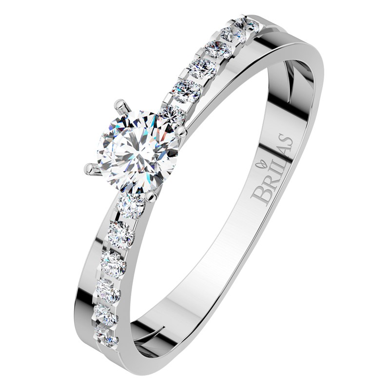 Amanda White Dokonaly Zasnubni Prsten Z Bileho Zlata Brilas