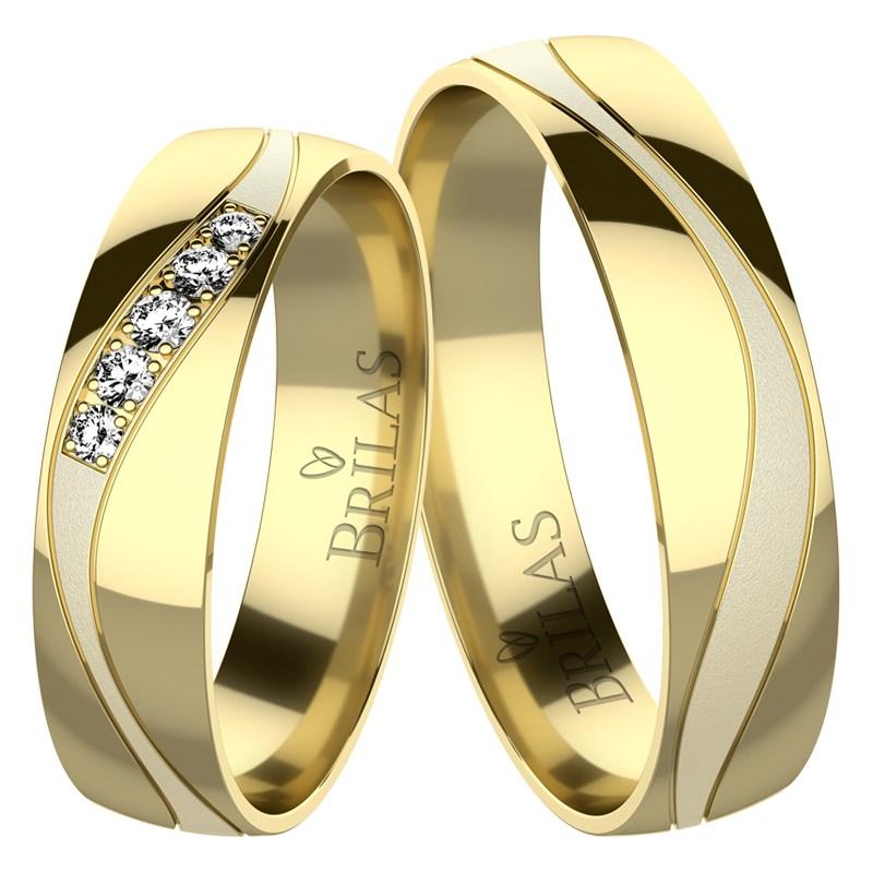 Artemis Gold Snubni Prsteny Ze Zluteho Zlata Brilas