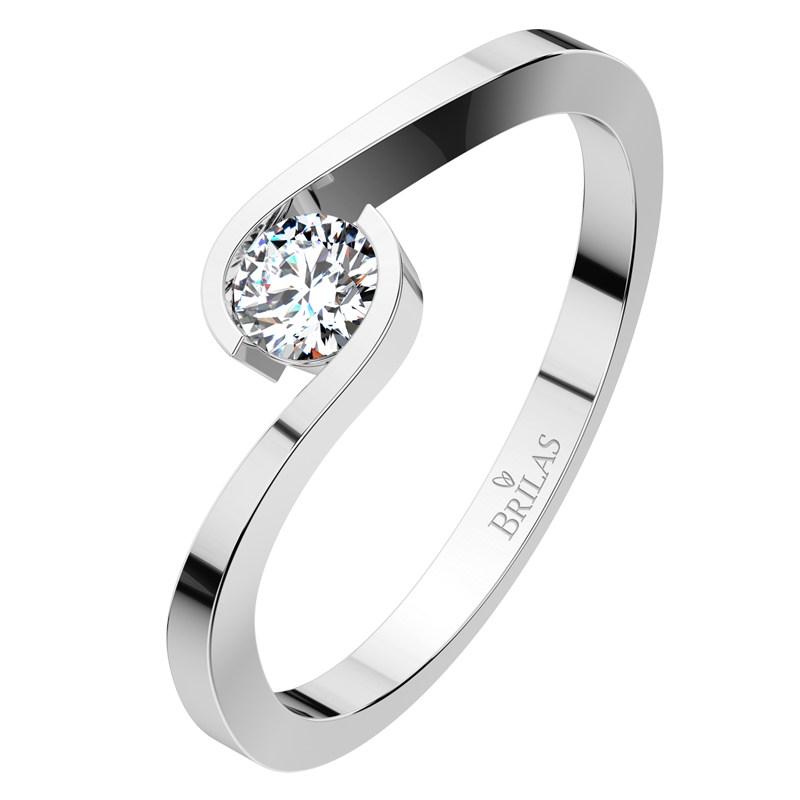 5f1b7e481 Vitas II. White - elegantní zásnubní prsten z bílého zlata | BRILAS