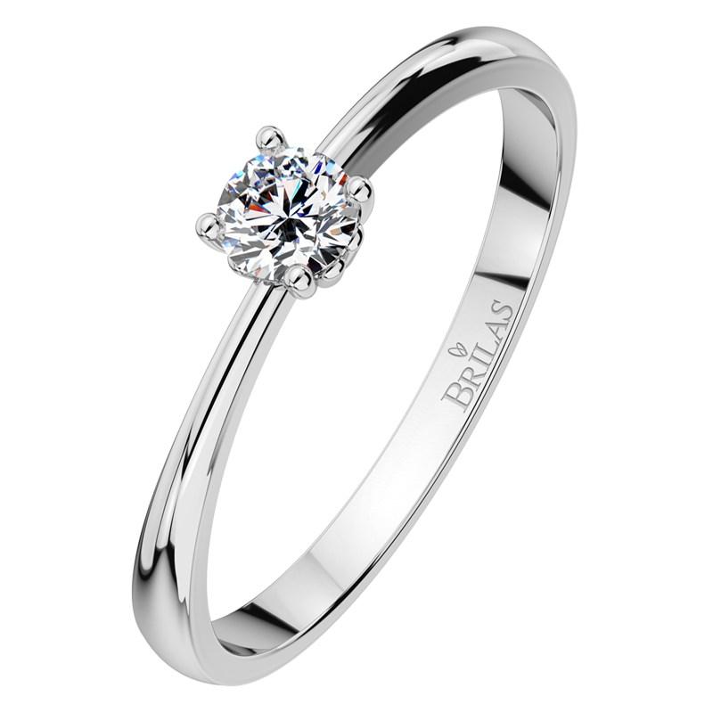 d40bbbd54 Helia White III - líbezný zásnubní prsten z bílého zlata | BRILAS