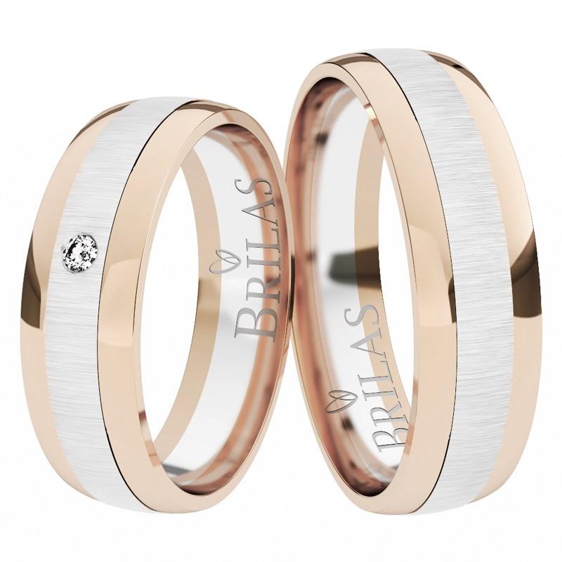Beautiful Ring Rw Moderni Snubni Prsteny Z Bileho A Cerveneho