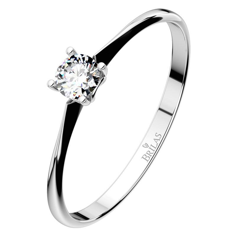 e3b7b1f54 Lyra White - tradiční zásnubní prsten z bílého zlata | BRILAS