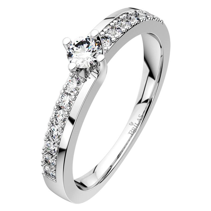 Petronela White Spickovy Zasnubni Prsten Z Bileho Zlata Brilas