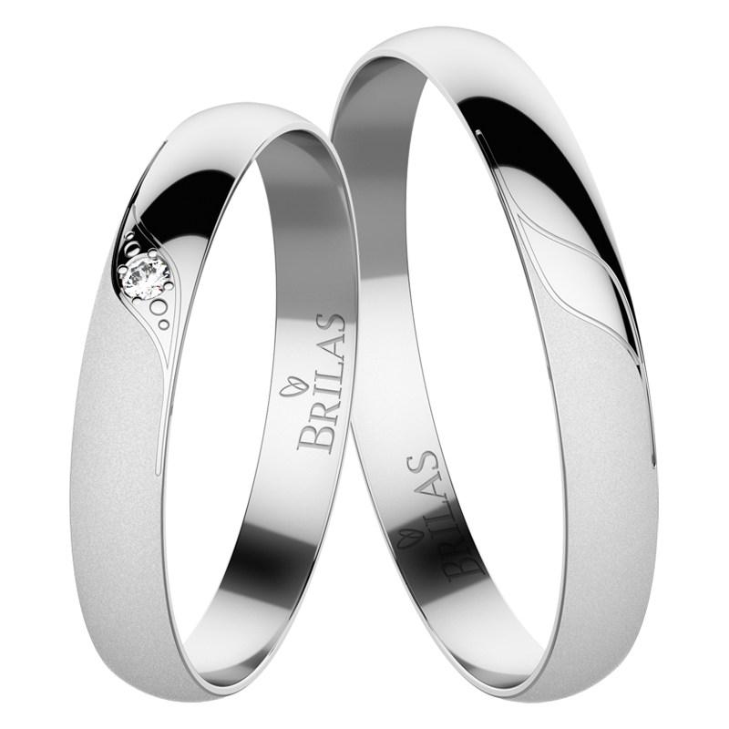 bc63a87ee Vivien White - snubní prsteny z bílého zlata | BRILAS
