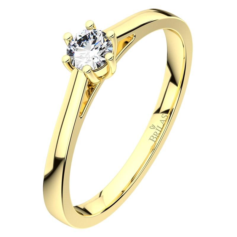 5299322e0 Helena G Briliant III. naprosto nádherný zásnubní prsten ze žlutého zlata