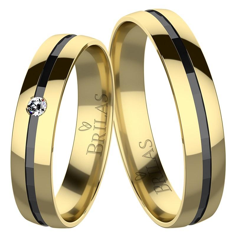Nika Gold Snubni Prsteny Ze Zluteho Zlata Brilas