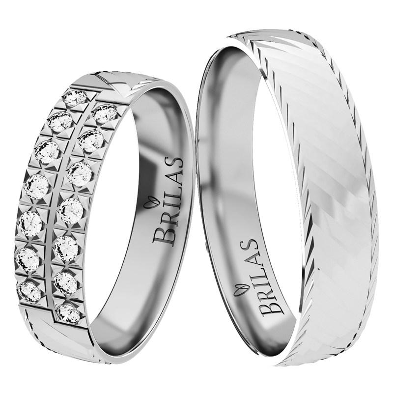 Izolda White Snubni Prsteny Z Bileho Zlata Brilas