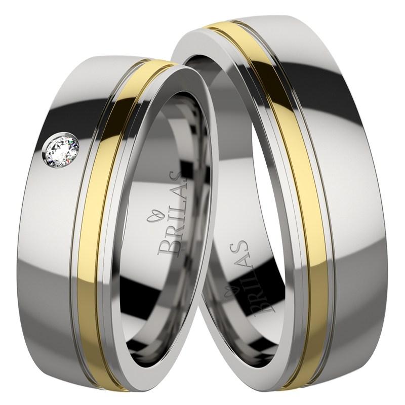 88d7fb0d4 Nancy stone - moderní ocelové snubní prsteny se zirkonem | BRILAS