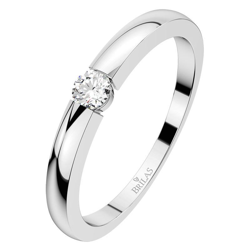 6fea4d19d Kyra W Briliant - zásnubní prsten z bílého zlata | BRILAS