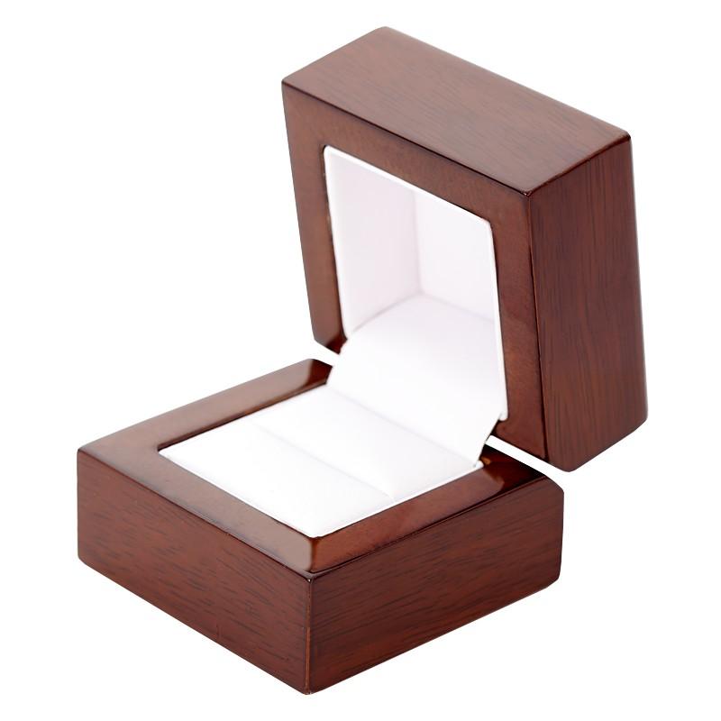Brown Wood I Moderni Drevena Krabicka Na Zasnubni Prsten Brilas