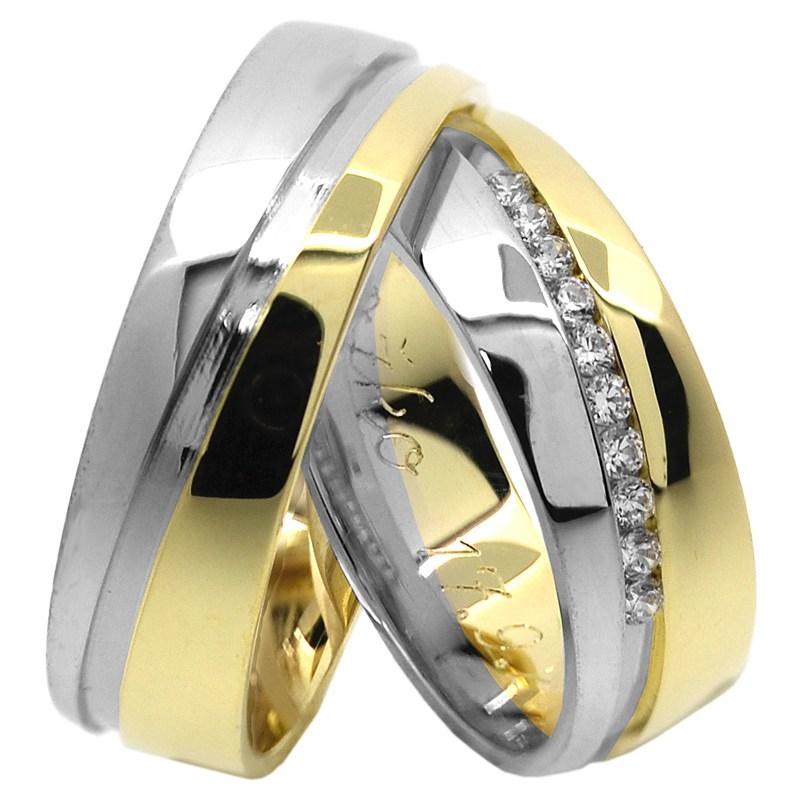 Zafir Colour Snubni Prsteny Z Kombinovaneho Zlata Brilas