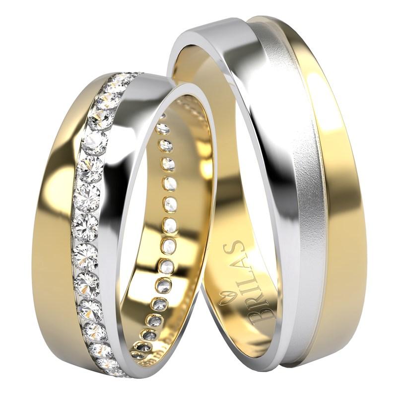 Michelangelo Colour Gw Zlate Snubni Prsteny V Kombinaci Zlute A